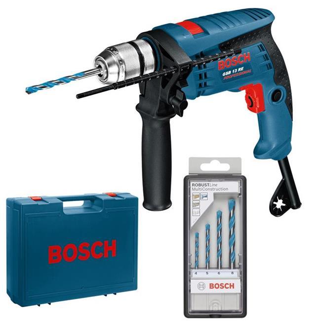 Bosch-Schlagbohrmaschine-GSB-13-RE-i-4-Bohrer-Koffer