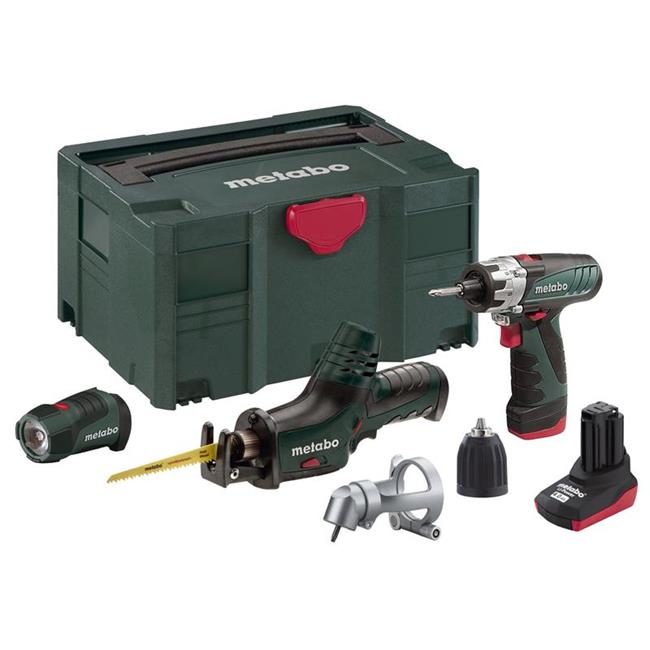 metabo akku bohrschrauber powermaxx bs power maxx ase powerled 2 akkus ebay. Black Bedroom Furniture Sets. Home Design Ideas