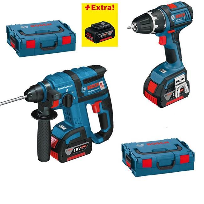 Bosch-Akku-Schrauber-GSR-18-V-LI-GBH-18-V-EC-3-Akkus-4-0-Ah-L-Boxx
